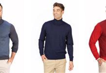 Eleganckie swetry męskie